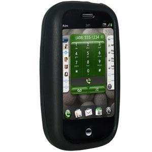 AMZER Shockproof Rugged Silicone Skin Jelly Case for Palm Pre - Jet Black