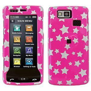 AMZER Stars Pink Snap On Crystal Hard Case for LG Versa LX9600
