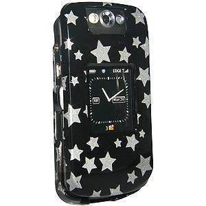 AMZER Stars Black Snap On Crystal Hard Case for BlackBerry Pearl 8220