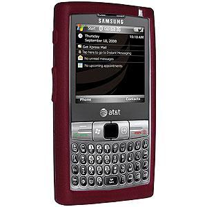 AMZER Shockproof Rugged Silicone Skin Jelly Case for Samsung Epix i907 - Maroon