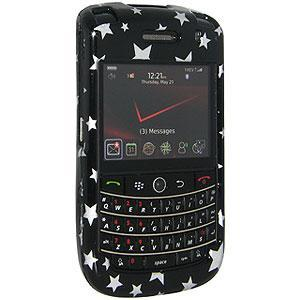 AMZER Stars Black Snap on Crystal Hard Case for BlackBerry Bold 9650