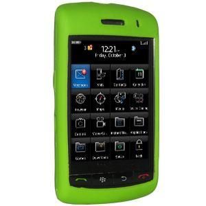 AMZER Silicone Skin Jelly Case for BlackBerry Storm 9530 - Green
