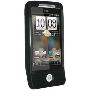 AMZER Shockproof Rugged Silicone Skin Jelly Case for HTC Hero - Jet Black