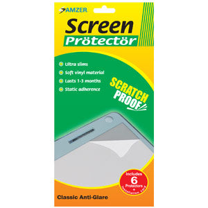 AMZER Anti-Glare Screen Protector - Pack of 6