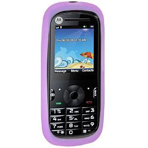 AMZER® Silicone Skin Jelly Case - Purple for Motorola VE440