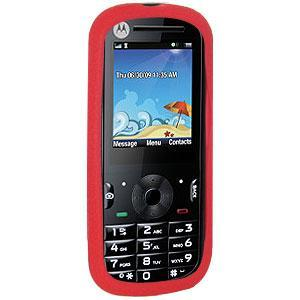 AMZER® Silicone Skin Jelly Case - Red for Motorola VE440
