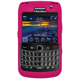 AMZER Silicone Skin Jelly Case for BlackBerry Bold 9700 - Hot Pink
