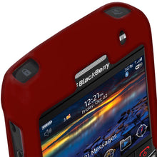 Load image into Gallery viewer, AMZER Silicone Skin Jelly Case for BlackBerry Bold 9700 - Maroon Red