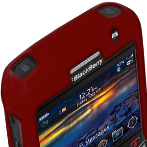AMZER Silicone Skin Jelly Case for BlackBerry Bold 9700 - Maroon Red