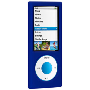 AMZER Silicone Skin Jelly Case for iPod Nano 5th Gen - Blue