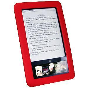AMZER Silicone Skin Jelly Case for Barnes and Noble Nook - Red