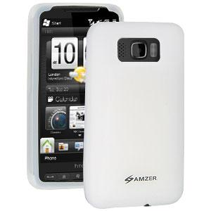 Amzer Silicone Skin Jelly Case - Transparent White for HTC HD2