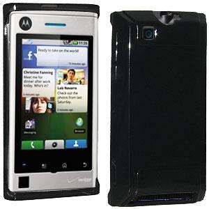 AMZER® Soft Gel TPU Skin Case - Black for Motorola DEVOUR A555