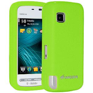 Amzer Silicone Skin Jelly Case - Green for Nokia 5230