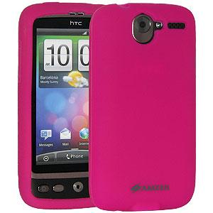 Amzer Silicone Skin Jelly Case - Hot Pink for HTC Desire