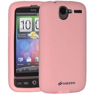 Amzer Silicone Skin Jelly Case - Baby Pink for HTC Desire