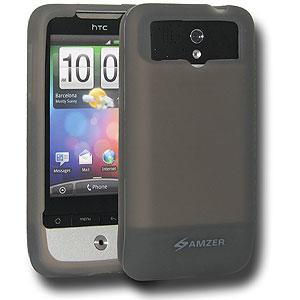 Amzer Silicone Skin Jelly Case - Grey for HTC Legend