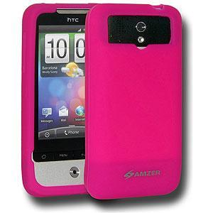 AMZER Silicone Skin Jelly Case for HTC Legend - Hot Pink