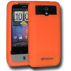 AMZER Silicone Skin Jelly Case for HTC Legend - Orange