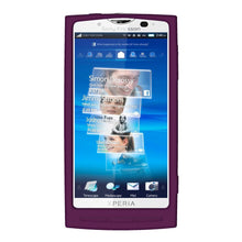 Load image into Gallery viewer, AMZER Silicone Skin Jelly Case for Sony Ericsson Xperia X10 - Purple