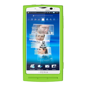 AMZER Silicone Skin Jelly Case for Sony Ericsson Xperia X10 - Green