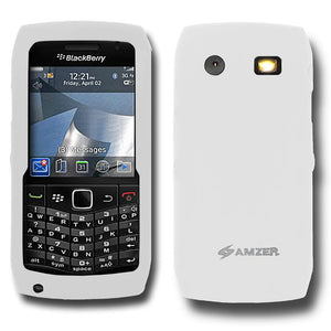 AMZER Silicone Skin Jelly Case for Blackberry Pearl 9100 - Lilly White