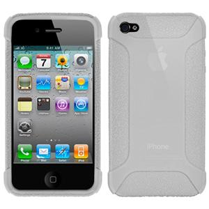 Amzer Silicone Skin Jelly Case - Transparent White for iPhone 4