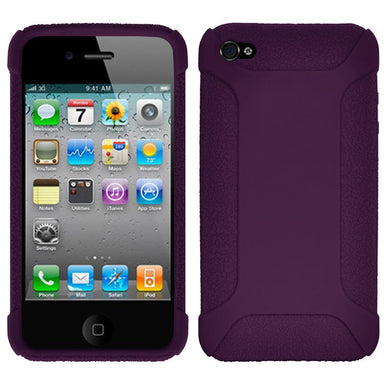 Amzer Silicone Skin Jelly Case - Purple for iPhone 4