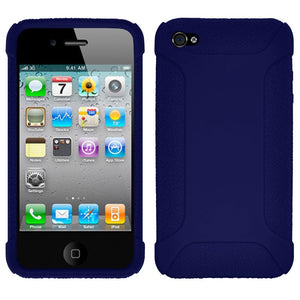 Amzer Silicone Skin Jelly Case - Blue for iPhone 4