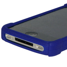 Load image into Gallery viewer, Amzer Silicone Skin Jelly Case - Blue for iPhone 4