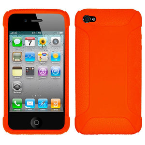 Amzer Silicone Skin Jelly Case - Orange for iPhone 4