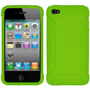Amzer Silicone Skin Jelly Case - Green for iPhone 4