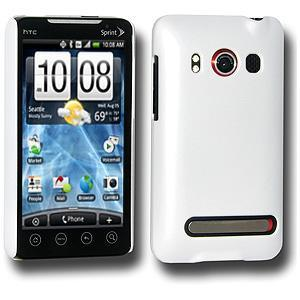 AMZER® Simple Click On Case with Screen Protector - Rubberized White for HTC EVO 4G