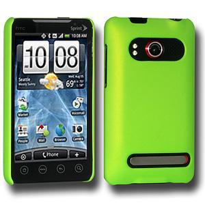 AMZER® Simple Click On Case with Screen Protector - Rubberized Green for HTC EVO 4G