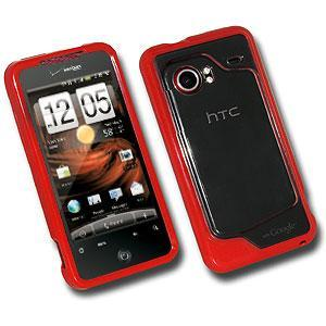 AMZER® TPU Hybrid Case - Red for HTC DROID Incredible PB31200