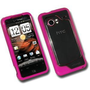 AMZER® TPU Hybrid Case - Hot Pink for HTC DROID Incredible PB31200