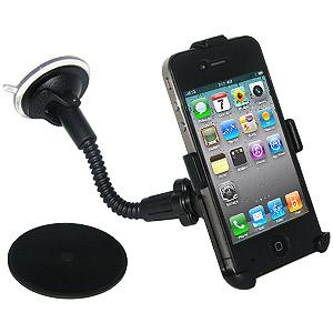 Amzer 8 inch Gooseneck Vehicle Mount for iPhone 4S, iPhone 4
