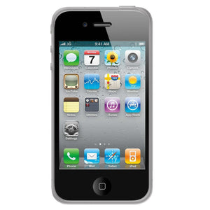 AMZER Circle TPU Skin Case - Clear for iPhone 4