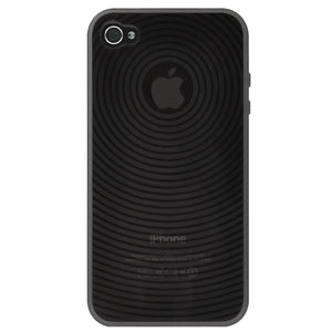 AMZER Wave Circle TPU Skin Case - Smoke for iPhone 4