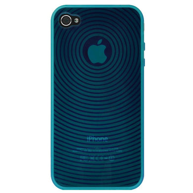 AMZER Wave Circle TPU Skin Case - Blue for iPhone 4