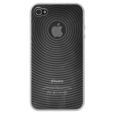 AMZER Wave Circle TPU Skin Case - Clear for iPhone 4