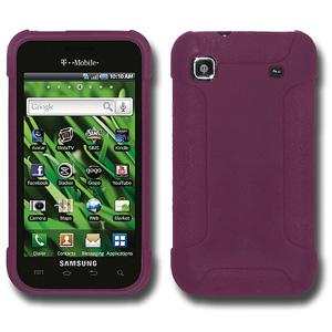 Amzer Silicone Skin Jelly Case - Purple for Samsung Galaxy S i9000