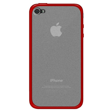 AMZER SlimGrip Hybrid Case - Cloudy/ Red for iPhone 4