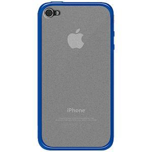 AMZER SlimGrip Hybrid Case - Cloudy/ Blue for iPhone 4