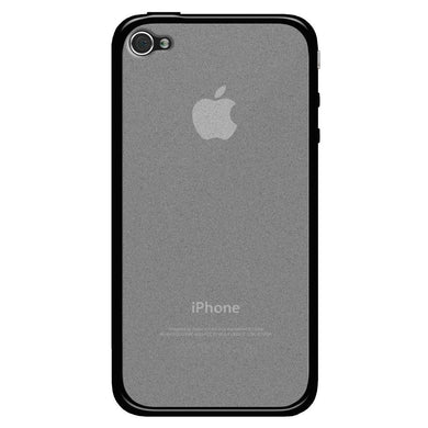AMZER SlimGrip Hybrid Case - Cloudy/ Black for iPhone 4