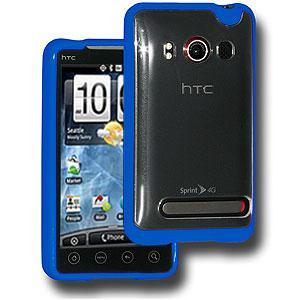 AMZER® TPU Hybrid Case - Blue for HTC EVO 4G