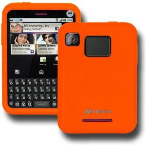 AMZER® Silicone Skin Jelly Case - Orange for Motorola CHARM MB502