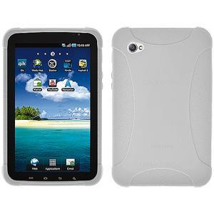 AMZER Silicone Skin Jelly Case for Samsung GALAXY Tab GT-P1000 - White