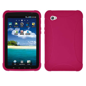 AMZER Silicone Skin Jelly Case for Samsung GALAXY Tab GT-P1000 - Hot Pink