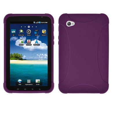 AMZER Silicone Skin Jelly Case for Samsung GALAXY Tab GT-P1000 - Purple